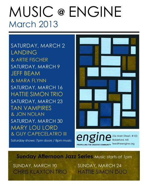 March Engine Schedule