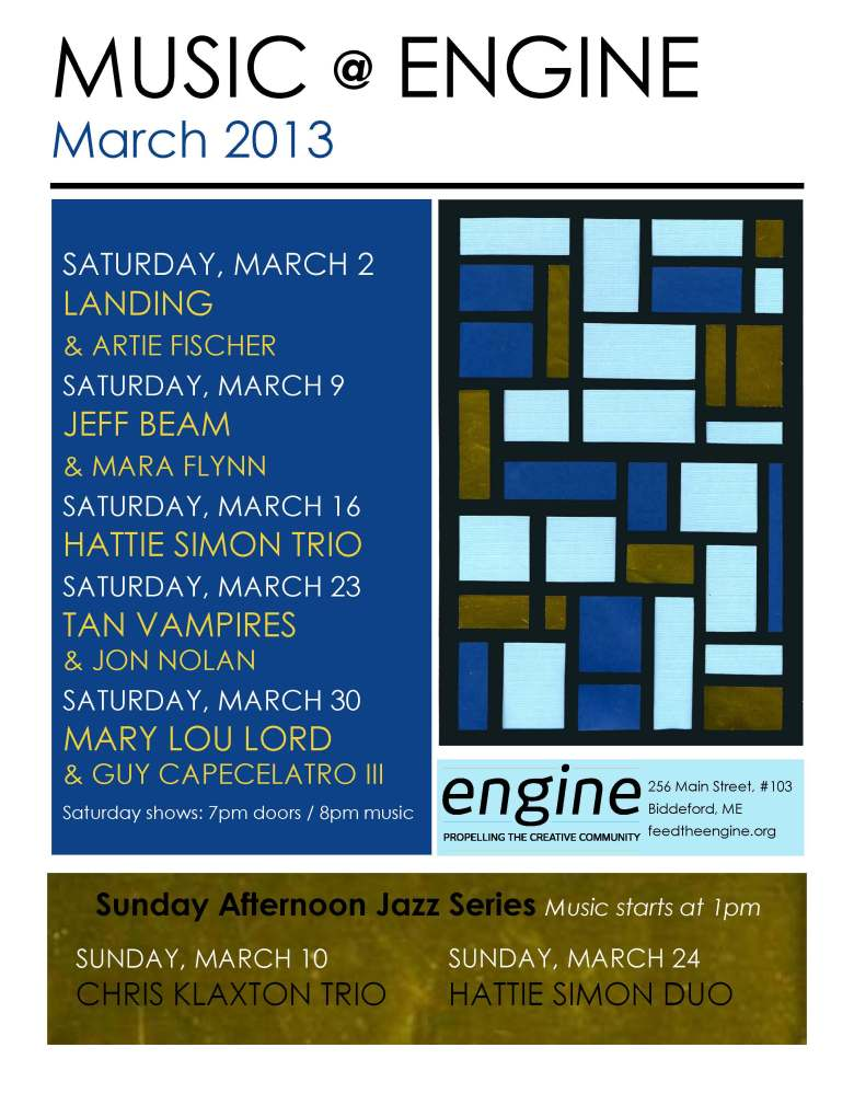March Engine Schedule